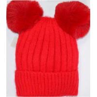 Детска шапка КАЛИНА 6-12 години в червено.