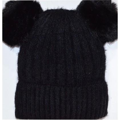 Детска шапка КАЛИНА 6-12 години в черно.