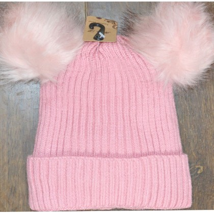 Детска шапка КАЛИНА 4-10 години в розово.