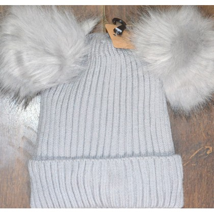 Детска шапка КАЛИНА 4-10 години в сиво.