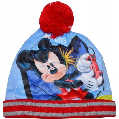 Детска шапка МИКИ МАУС 2-6 години в червено.