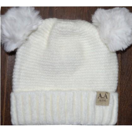 Детска шапка АА KIDS 6 месеца до 2 години в крем.