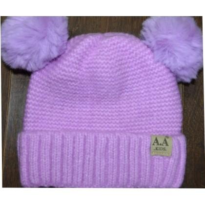 Детска шапка АА KIDS 6 месеца до 2 години в лилаво.