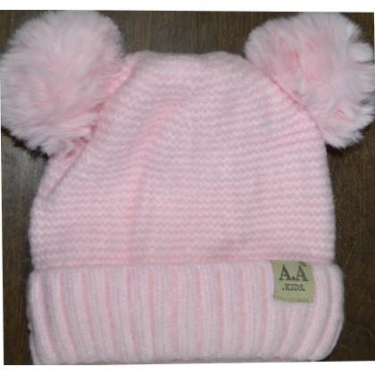Детска шапка АА KIDS 6 месеца до 2 години в розово.