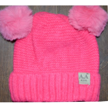 Детска шапка АА KIDS 6 месеца до 2 години в циклама.