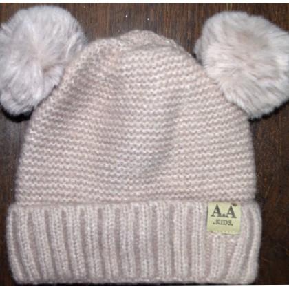 Детска шапка АА KIDS 6 месеца до 2 години в кафяво.