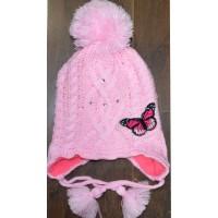 Детска шапка ПЕПЕРУДА 3-5 години в розово.