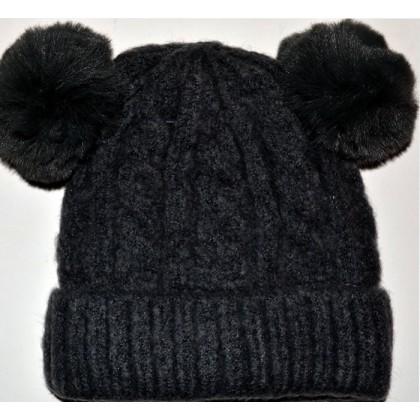 Детска шапка 1-5 години код 01 в черно.