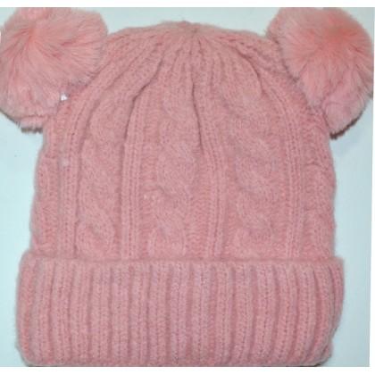 Детска шапка 1-5 години код 01 в розово.