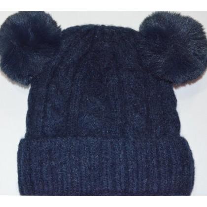 Детска шапка 1-5 години код 01 в тъмно синьо.