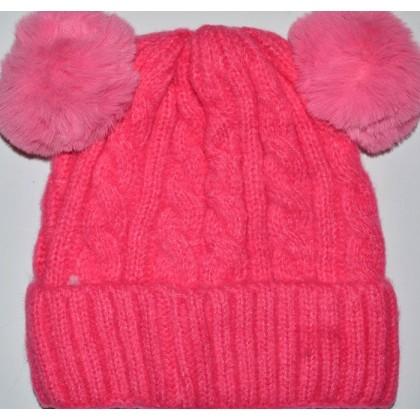 Детска шапка 1-5 години код 01 в циклама.