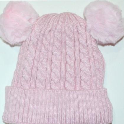 Бебешка шапка код 01 в розово.