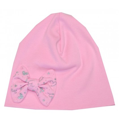 Памучна детска шапка РОЗОВА 1-12 месеца.