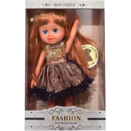 Кукла АНАСТАСИЯ с кафява рокля.