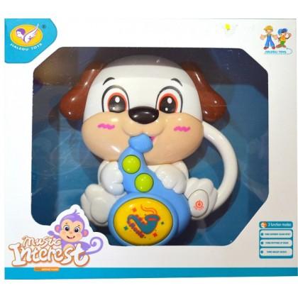 Музикална бебешка играчка КУЧЕ.