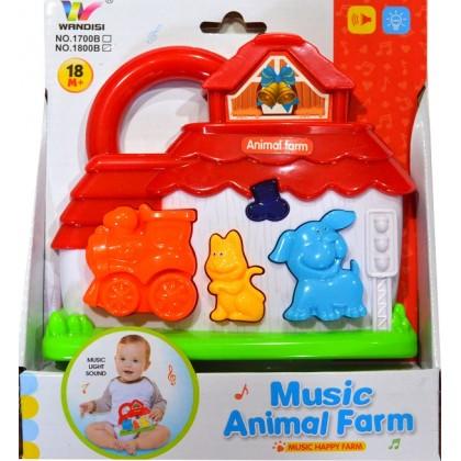 Музикална бебешка играчка КЪЩИЧКА.