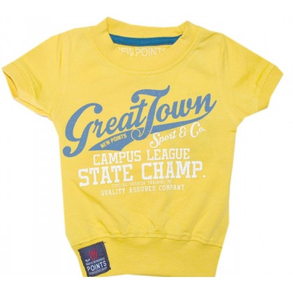 Бебешка блуза 62-86 ръст в жълто.