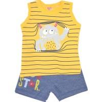 Детски комплект с потник РАЕ 1-3 години в жълто.