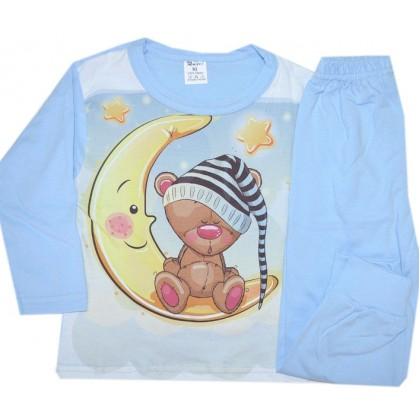 Детска пижама ЛУНЕН МЕЧО 86-92 ръст на фирма КОМ ТЕКС.