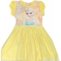 Детска рокля ЕЛЗА 104-134 ръст в жълто.