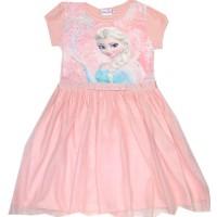 Детска рокля ЕЛЗА 104-134 ръст в светъл корал.