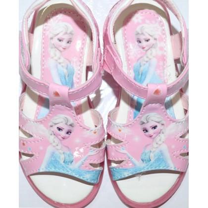 Светещи детски сандали АНА И ЕЛЗА 25-30 номер в розово.