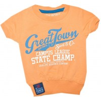 Бебешка блуза 62-86 ръст в оранжево.