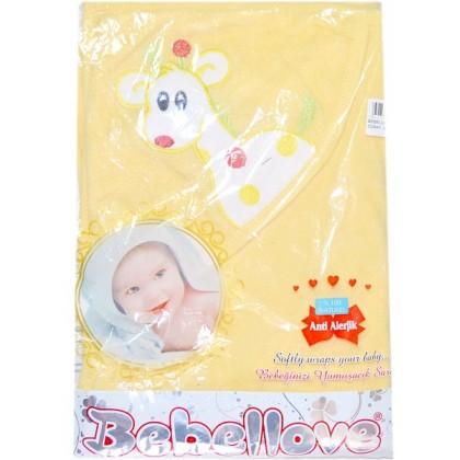 Бебешка хавлия ЖИРАФ в жълто.