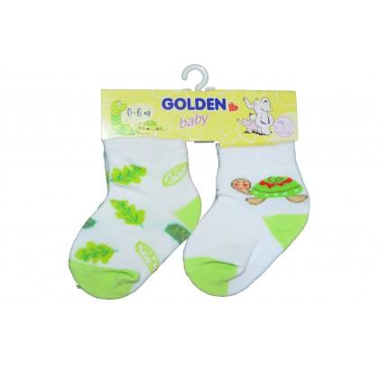 Бебешки чорапки ЗЕЛЕНИ 2 броя в пакет.