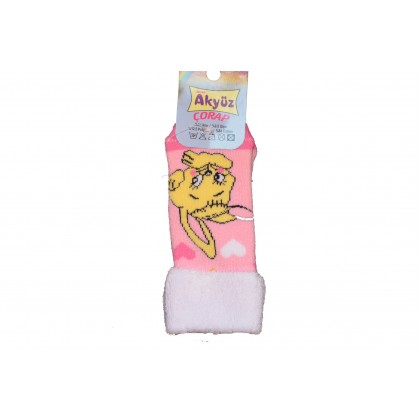 Бебешки чорапки РОЗОВИ от 0-12 месеца.