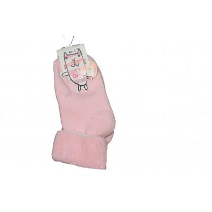 Бебешки чорапки СВЕТЛО РОЗОВИ 0-12 месеца.