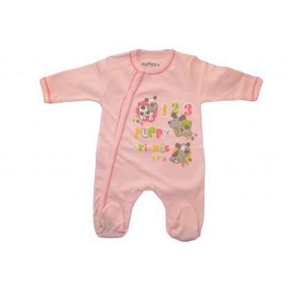 Бебешки гащеризон  от 50-74  ръст в розово.