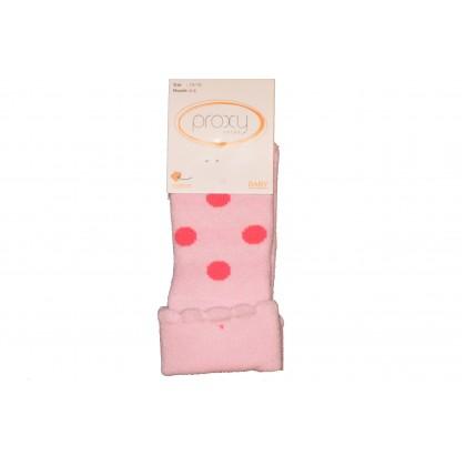 Бебешки термо чорапки ТОЧКИ от 0-6 месеца.