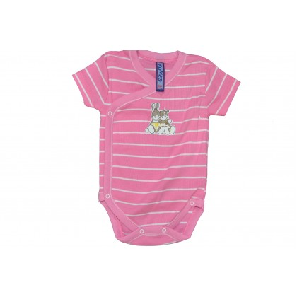Бебешко боди РАЕ РОЗОВО от 50 до 68 ръст.