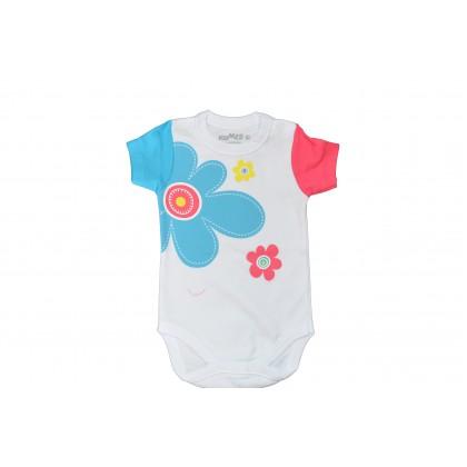 Бебешко боди ЦВЕТЯ от 62 до 92 ръст.