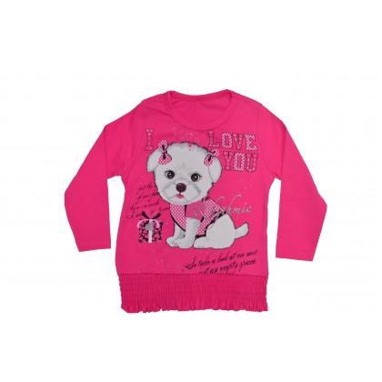 Детска блузка Куче от 86-104 ръст .