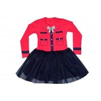 Детска рокля СЕВТЕКС в червено.