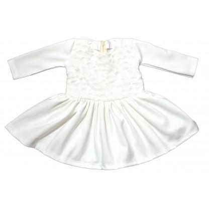 Бебешка рокля в кремаво.