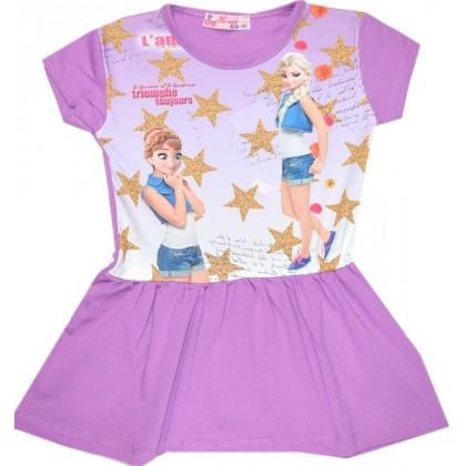 Детска рокля *АНА И ЕЛЗА* 2-5 години в лилаво.