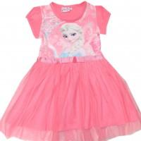 Детска рокля ЕЛЗА 104-134 ръст в корал.